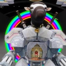 """Jonathan Monaghan, """"Robot Ninja,"""" 2013, CGI animated HD video"""