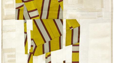 "Debra Smith. ""Tailor in Heaven,"" 2015. Pieced vintage Italian tie fabric and Japanese kimono silks. (Debra Smith/Washington Project for the Arts)"