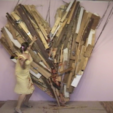 Kate Gilmore Heart Breaker, 2004 Video Courtesy of the Artist and David  Castillo Gallery